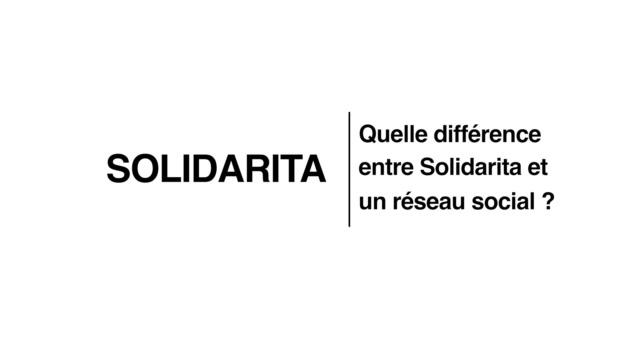 FORMA01 - Différence entre Solidarita et un réseau social